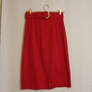 Vintage | Red Pencil Skirt